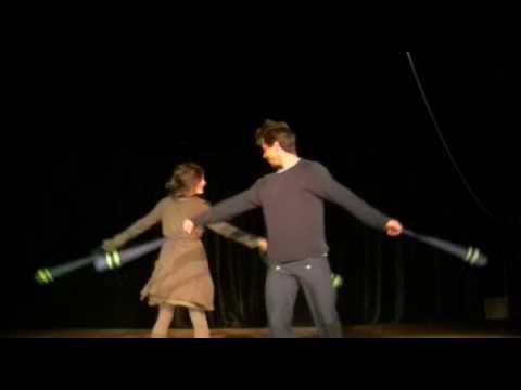 Dorothea & Cyrille – Partner-poi practicing 2010